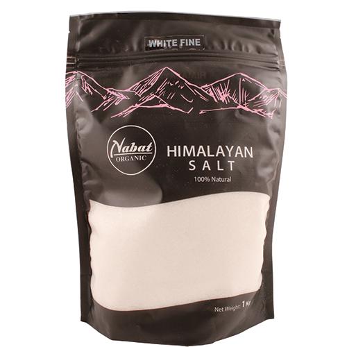Nabat Organic Himalayan White Salt Fine 1Kg