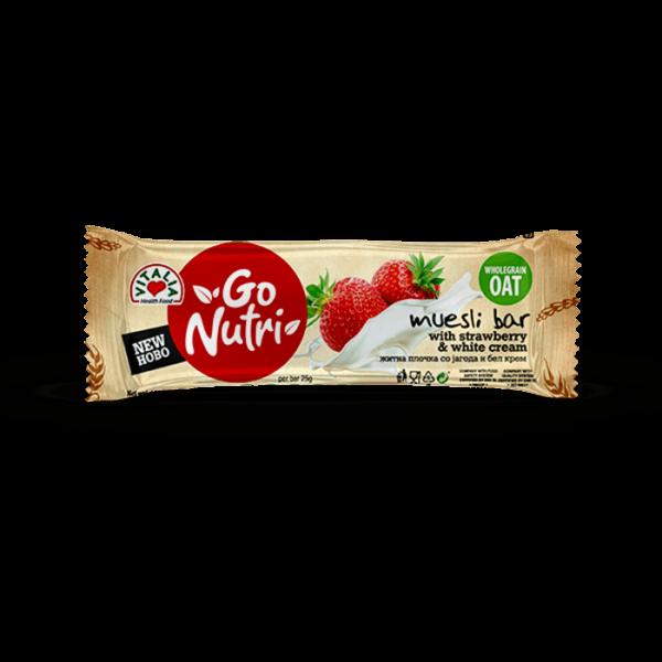 Go Nutri Bar Strawberry White Cream (25g)