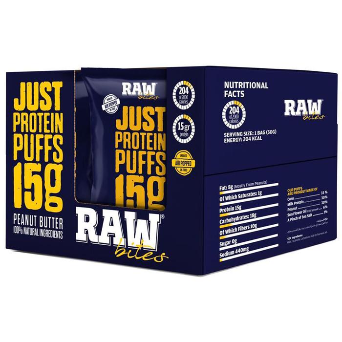 Raw bites  - corn chips peanut butter 50g - 1pack