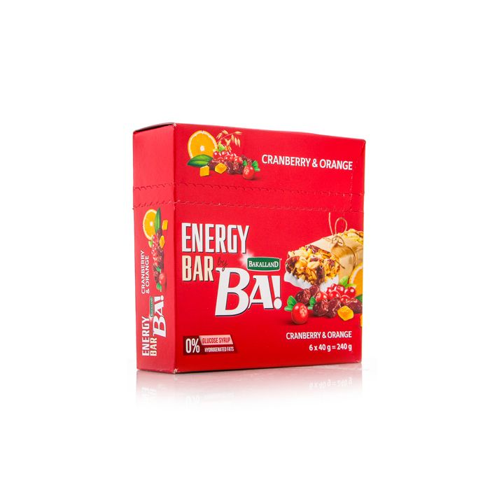 Ba Energy Bar Cranberry & Orange 40g - 1pack