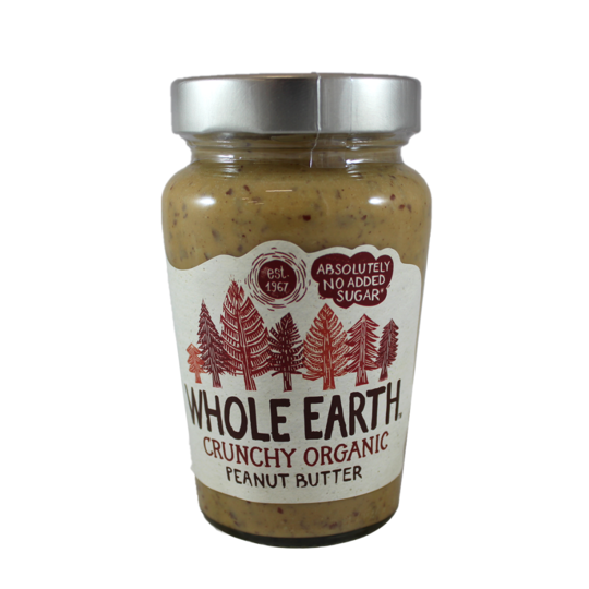 ORGANIC CRUNCHY PEANUT BUTTER 340G- Whole Earth