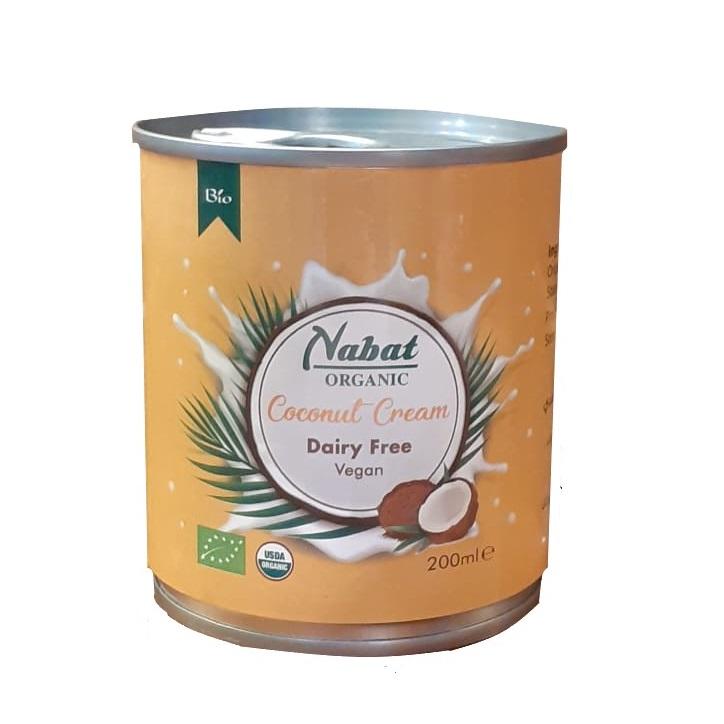Nabat Organic Coconut Cream Can 200ml