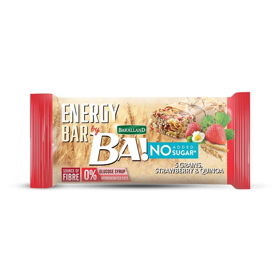 Ba Energy Bar No Sugar Strawberry & Quinoa 30g - 1pc