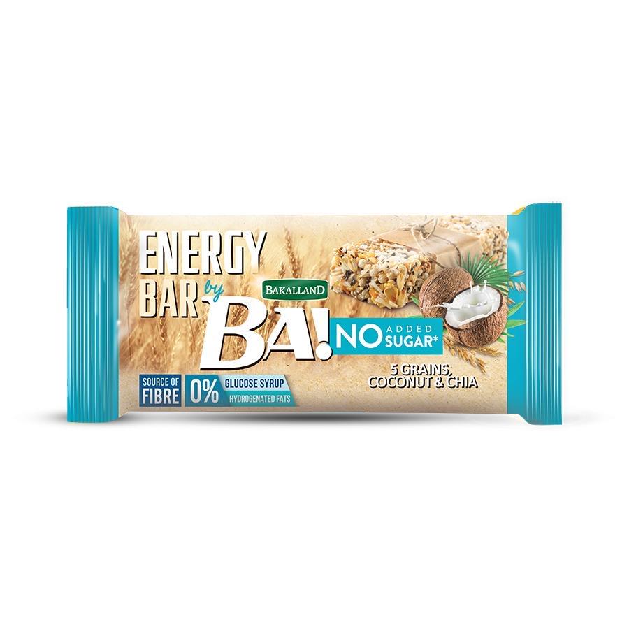 Ba Energy Bar No Sugar Coconut & Chia 30g - 1pc