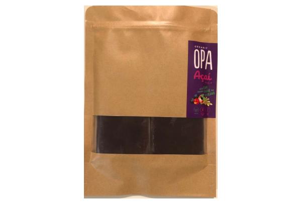 OPA Acai Frozen Acai Berry Pulp with Organic Cane Sugar and Guarana 100g