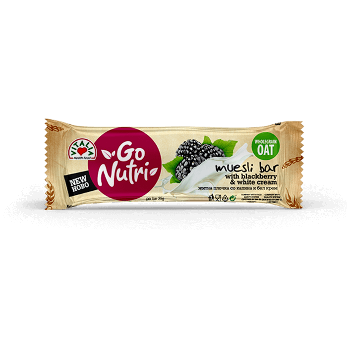 Go Nutri Bar Blackberry White Cream (25g)