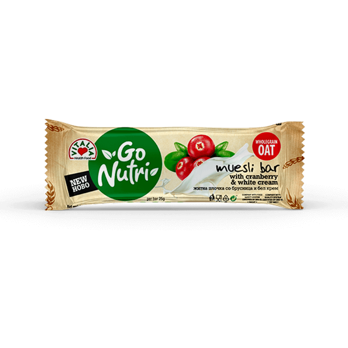 Go Nutri Bar Cranberry White Cream (25g)