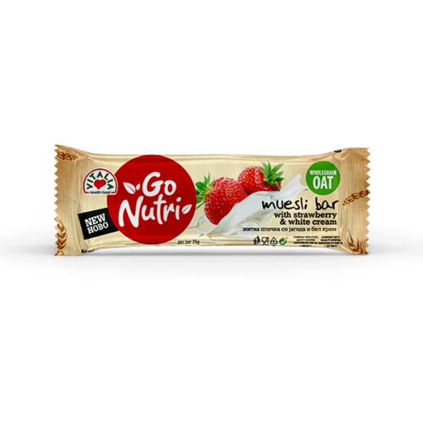 Go Nutri Bar Strawberry White Cream (25g)