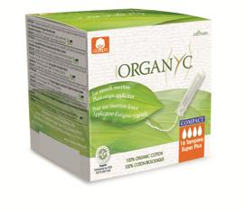 Super Plus Organic Cotton Compact Applicator Tampons