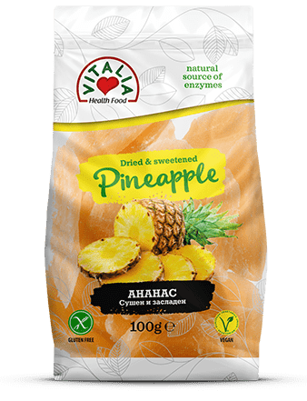 Pineapple Dried and Sweetened 100g
