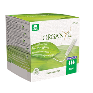 Super Organic Cotton Compact Applicator Tampons