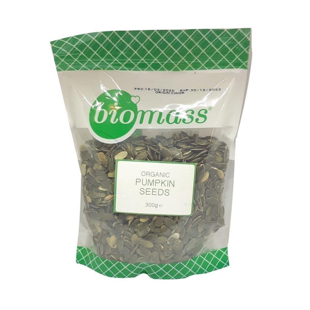 Biomass Organic Pumpkin Seeds - Hulled (Bag - 300g)