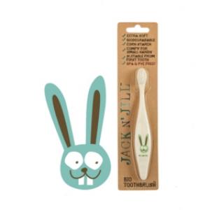 Jack N Jill Bio Toothbrush (TM) Compostable & Biodegradable Handle BUNNY