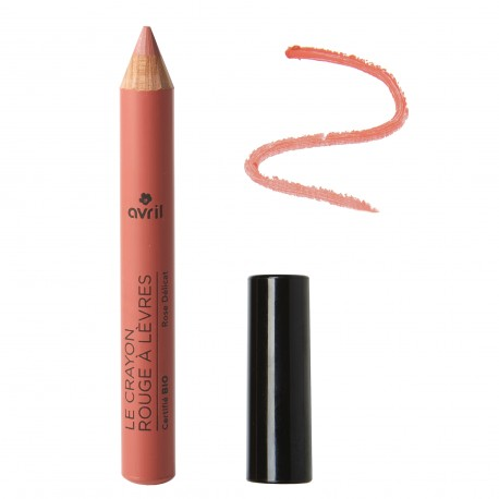 Avril Organic Delicate Pink Lipstick Pencil Certified