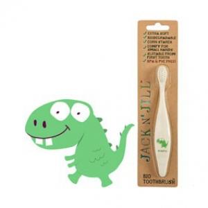 Jack N Jill Bio Toothbrush (TM) Compostable & Biodegradable Handle DINO