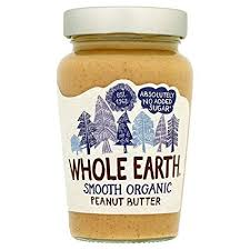 ORGANIC SMOOTH PEANUT BUTTER 340G- Whole Earth