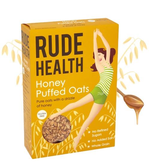 Honey Puffed Oats-  Rude Health