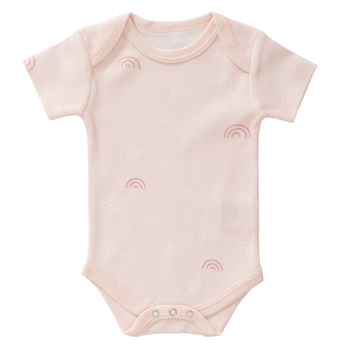 Fresk Organic- Body Short Sleeve Rainbow Chintz Rose Size: 0‐3 m, 3-6 m and 6-12 m