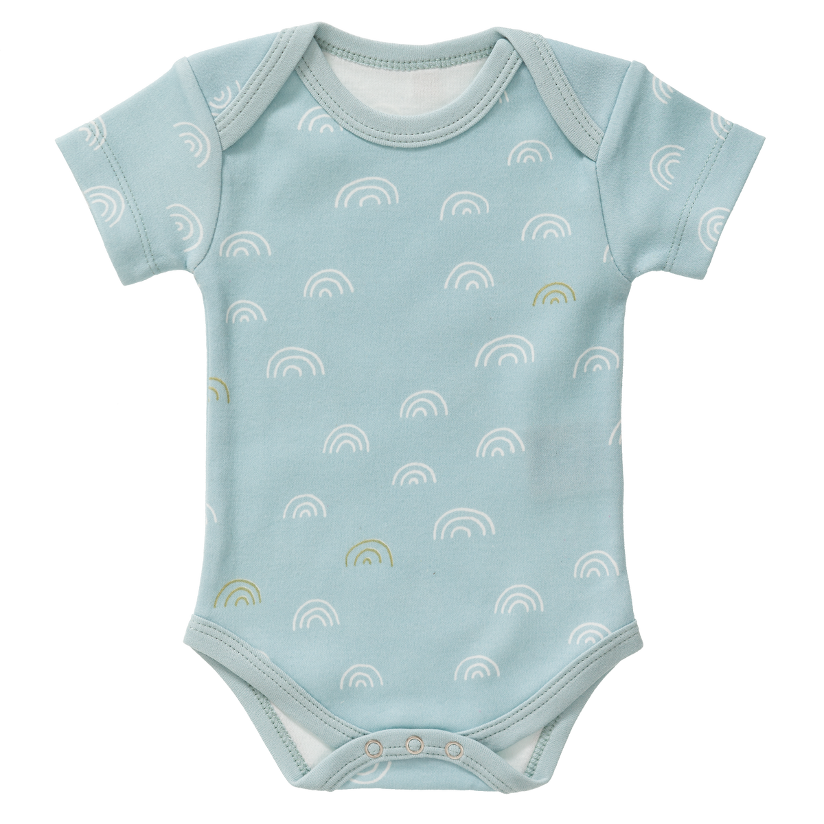 Fresk Organic - Body Short Sleeve Rainbow Ether Blue Size: 0‐3 m ,3-6 m and 6-12 m